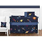 Sweet-Jojo-Designs-Fitted-Crib-Sheet-for-Space-Galaxy-BabyToddler-Bedding-Set-Collection-Galactic-Print