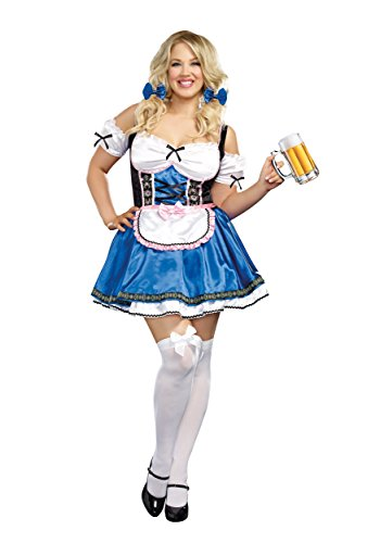 (Dreamgirl Women's Plus Size Happy New Beer Costume, Multi)