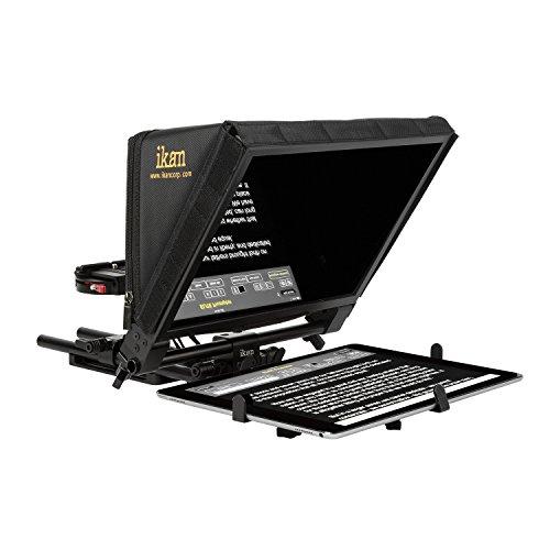Ikan PT-Elite-PRO Elite Universal Large Tablet for Surface Pro & iPad Pro Teleprompter Beam Splitter 70/30 Glass (Black) ()