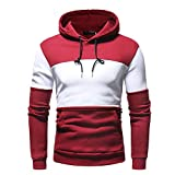 haoricu Mens' Lightweight Hipster Hip Hop Hooded Shirt Fleece Pullover Sweatshirt Outwear Tops