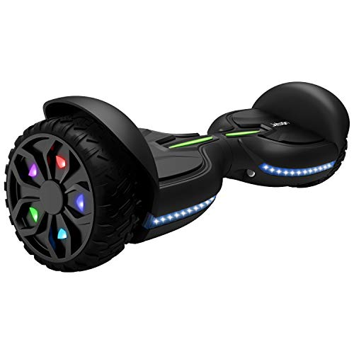 (Jetson Electric Bike Z12 Extreme Terrain Hoverboard with LED Galaxy Light-Up Wheels, Bluetooth Speaker, LED Lights, App Enabled, UL 2272 Certified, for Kids and Teens)