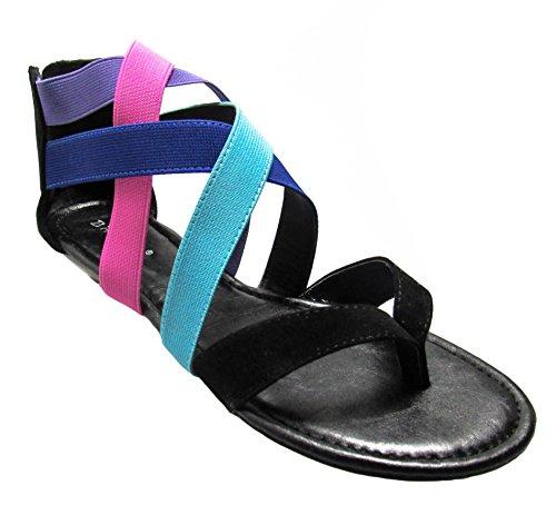 Bamboo Black Denissa Womens flats 83 sandals shoe xO8wnxT