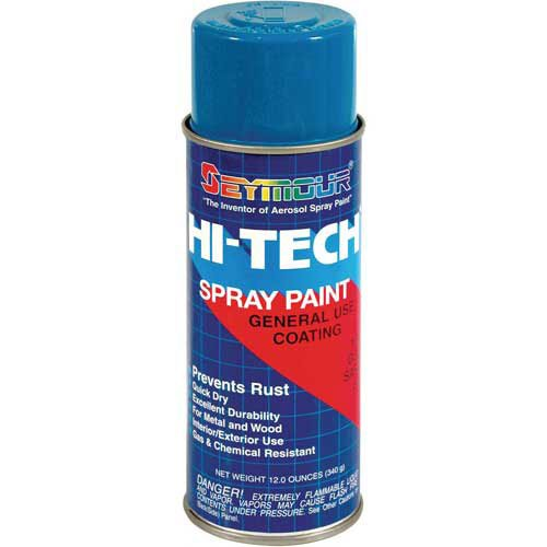 Hi-Tech Enamel 12 Oz. Safety Blue 6 Cans/Case