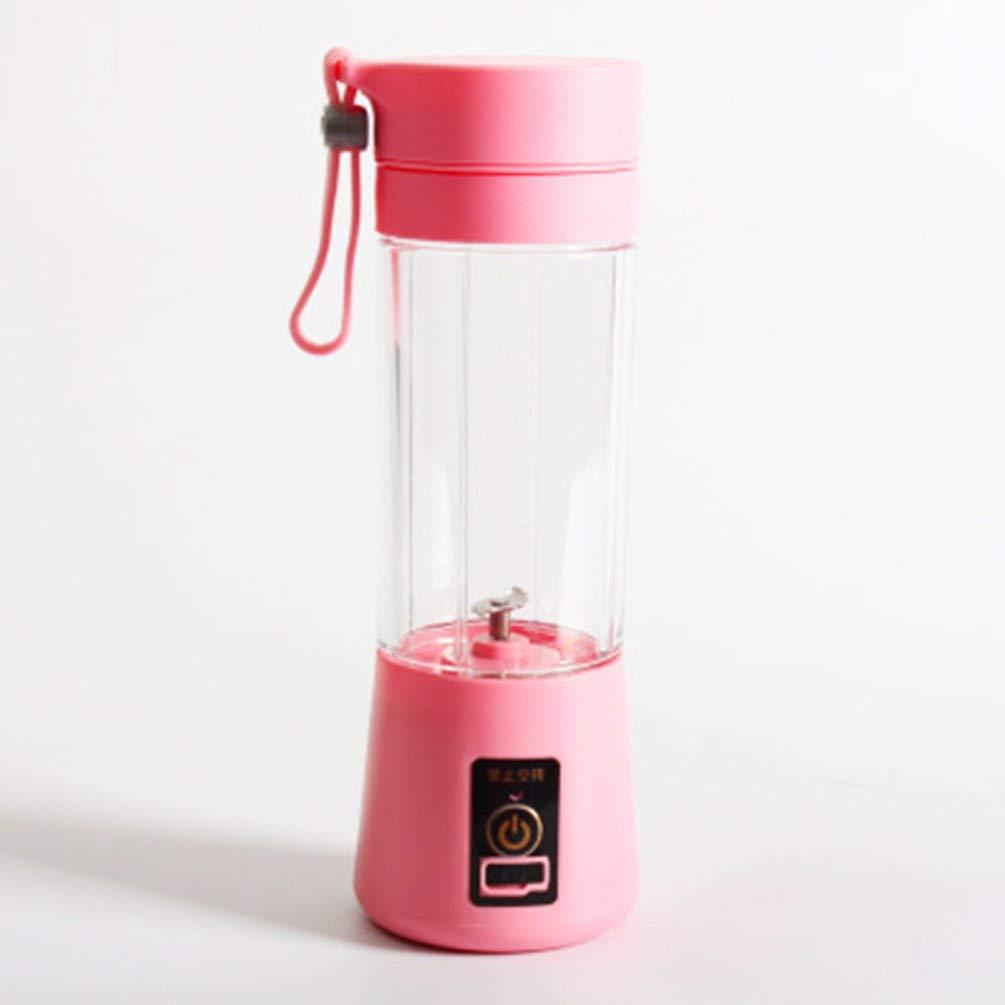 Portable Portable USB Spremiagrumi elettrico portatile frullatore Maker Blender ricaricabile Mini portatile tazza di succo dacqua Rosa