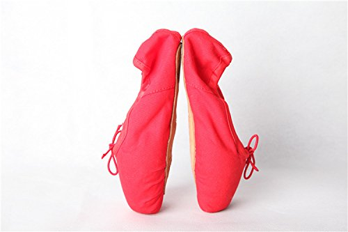 Schuhe Anfänger Schuhe Satin Ballett für Damen Rot Spitzenschuhe Toe Pointe Swallowuk Tanz SIv0xW