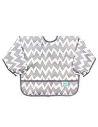 Bumkins Sleeved Bib Grey Chevron