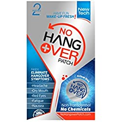 No Hangover Patch, 2 Patches (Each Patch Lasts for 3 Days)