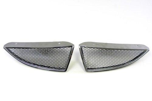 04 05 Mitsubishi Lancer Chrome JDM Ralliart Style Front Grille w/ Steel Mesh & Chrome Edge ES OZ LS Grill