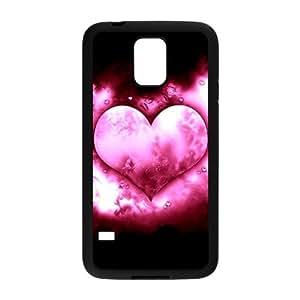 J-LV-F Customized Print Love Pink Hard Skin Case For Samsung Galaxy S5 I9600