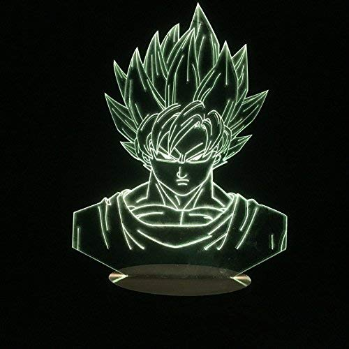 Sakura Ellegance Goku Sangoku Figure Night Lamp 3D Dragon Ball Z Cartoon Anime Color Changing 7 Colors Touch Acrylic Desk - Dragon Valentine Ball