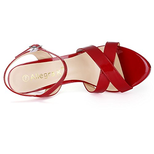 de Femme Allegra Sangle Cheville K Red 1FwPBp