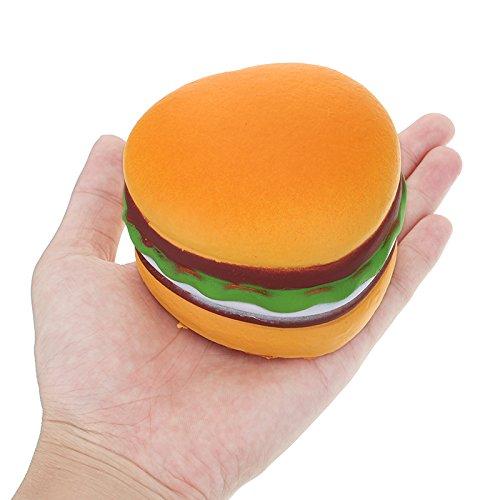 VIDOO Dolce Amore Cuore Hamburger 8cm Hamburger Morbido Lento Rising 8 Secondi Collezione Pane Regalo Decorazione Giocattolo