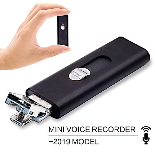 Small Mini Voice Activated Audio Recorder - Listening Devices for Spying USB Flash Drive | 22 Hours Battery | 8GB - 94 Hours Capacity | Easy to Use USB Memory Stick Sound Recorder