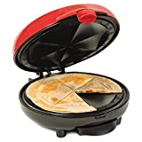 Nostalgia EQM8 6-Wedge Electric Quesadilla Maker with with Extra Stuffing Latch, Red