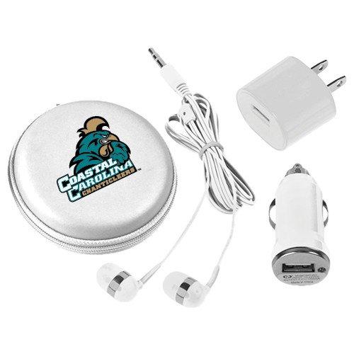 Coastal Carolina 3 in 1 White Audio Travel Kit 'Official Logo' by CollegeFanGear