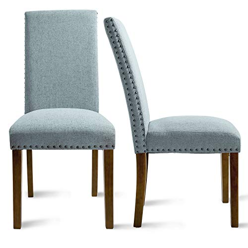 Upholstered Dining Chairs - Dining Chairs Set of 2,Accent Chair Walnut,Metal Dining Chairs (Upholstered Chairs Metal Dining)