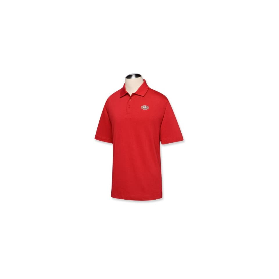 NFL San Francisco 49ers Mens B and T DryTec Championship Polo, Cardinal Red, 4X Tall
