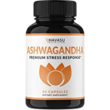 Havasu Nutrition Premium Ashwagandha 1000mg - Natural & Healthy Stress Support & Mood Enhancer Support - Artichoke For Enhanced Benefits - Energy Support, 90 Count