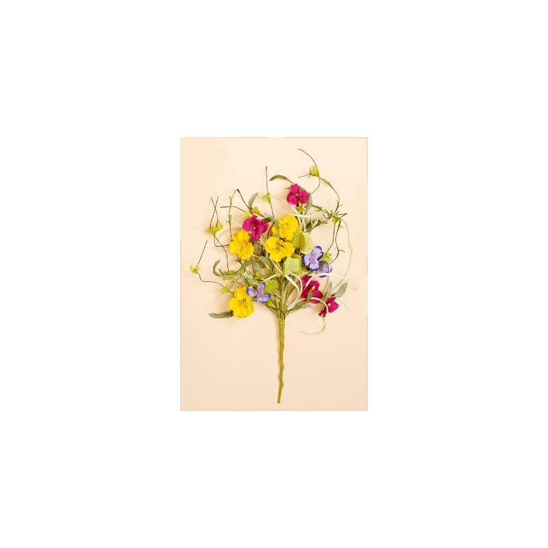 silk flower arrangements worth imports 22 inch pansy spray bush
