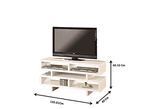 Coaster Home Furnishings 700721 Contemporary TV Console, White by Coaster Home Furnishings (Image #2)