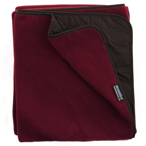 - Mambe Extreme Weather 100% Waterproof/Windproof Outdoor Blanket, Camping Blanket and Stadium Blanket with Premium Stuff Sack (Large, Burgundy) Made in The USA