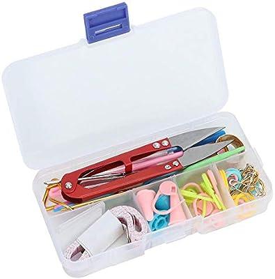 Kit de herramientas de costura Hilo Agujas de tejer Craft Punto de punto Agujas Kit Gancho de ganchillo Marcador Cinta métrica Accesorio de costura: Amazon.es: Hogar
