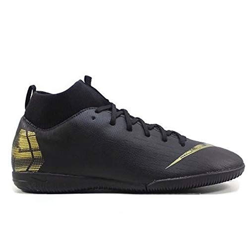 SuperflyX 6 Academy Indoor Soccer Shoes (5, Black/Gold) ()
