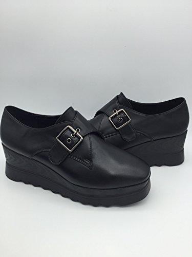 Kym–Zapatos de cordones bajas de Eco Piel–Martina Gabriele Shoes negro