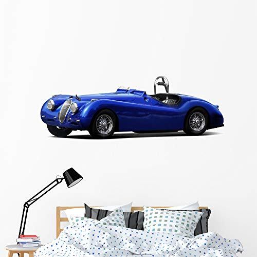 Wallmonkeys Sports Car Jaguar Xk140 Wall Mural Peel and Stick Vinyl Graphic (60 in W x 27 in H) WM525778