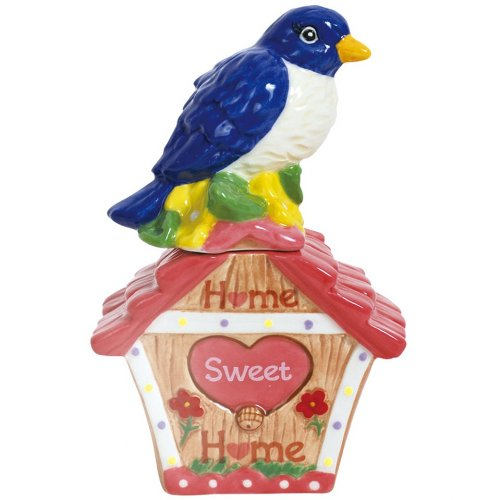 Westland Giftware Magnetic Ceramic Salt and Pepper Shaker Set, Mwah Home Sweet Home, 4.5-Inch, Set of 2