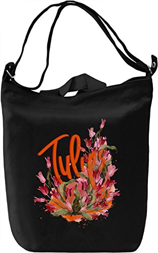 Tulip Borsa Giornaliera Canvas Canvas Day Bag  100% Premium Cotton Canvas  DTG Printing 