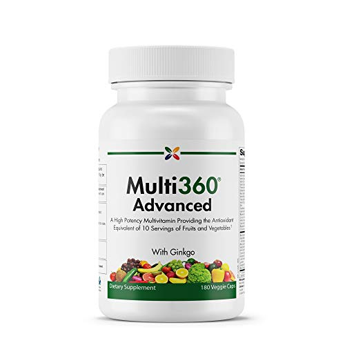(Stop Aging Now - Multi360 Advanced - A High Potency Multivitamin - 180 Veggie Caps)