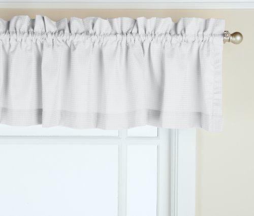 GPD Newport 60-inch x 12 inch Rod Pocket Valance Window Curtain, White