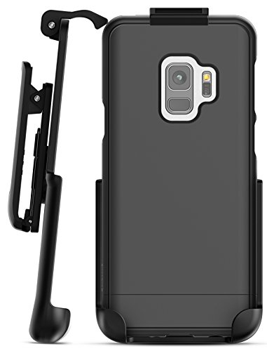 Galaxy S9 Belt Case, Encased [SlimShield Series] Thin Protective Grip Case with Holster Clip for Samsung Galaxy S9 (2018 Release) Smooth Black