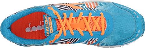 Diadora Unisex Mythos Racer Evo 2-fluo Cyan Blå / Fluo Orange