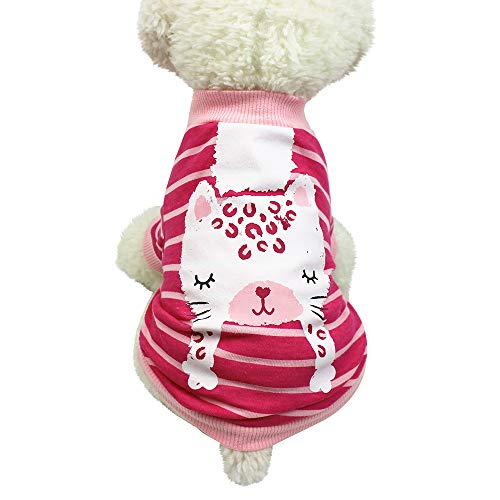 lotus.flower Pet Cloth, Pet Dog Puppy Cat Winter Ugly Sweater Cute Pet Dog T Shirts Clothing Small Puppy Costume (XL, Hot -