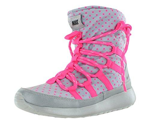 Nike Rosherun Flash Girls Youth Wolf Grey/Black/Hyper Pink/Silver Hi Sneakers ()