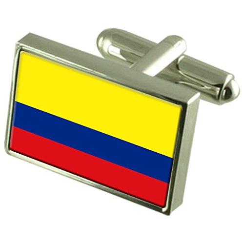 En Argent Sterling de manchette Drapeau Colombie