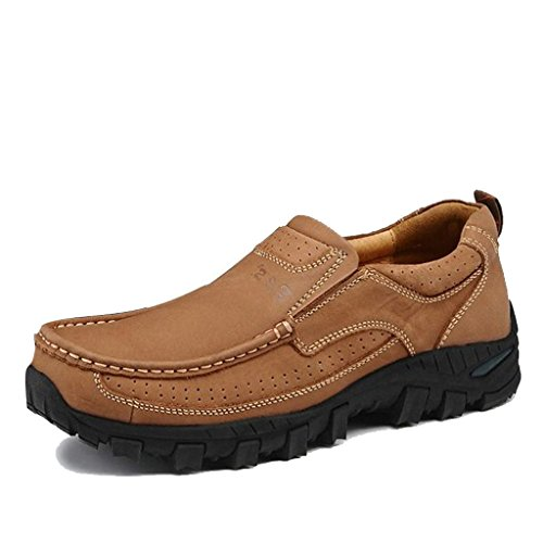 Shoes Ban Bancs Brown Slip Lt Relaxed Hikking Genuine Men's Fit Leather Outdoor amp;CS On v0dqxOrdw