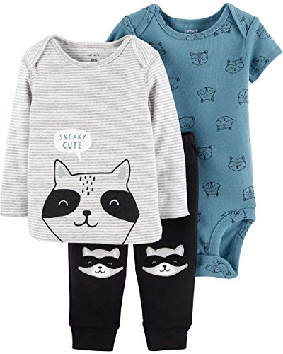 Character Sets - Carter's 3 Piece Little Character Set, Raccoon, Newborn