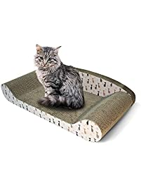 Feline Be Mine Cardboard Cat Scratcher Couch   Kitty Couch Scratching Pad  Sofa Bed Protect Furniture