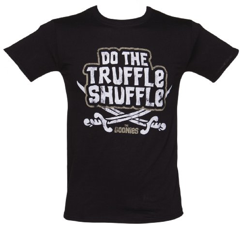 Mens Goonies Chunk Do The Truffle Shuffle T Shirt Black/Charcoal Medium -