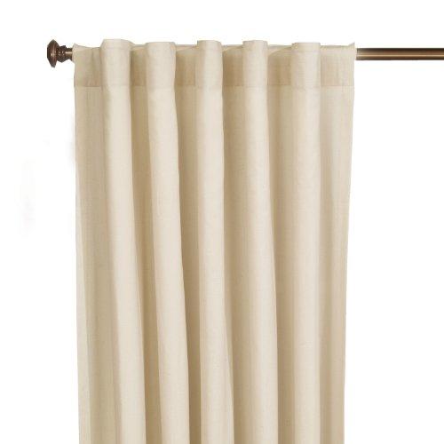 SureFit  Cotton Duck Fabric Single Panel Curtain, Natural