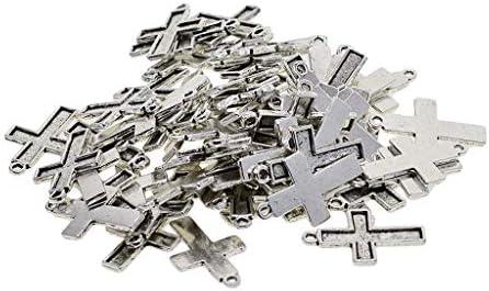 アクセサリー クロス カボション ペンダント DIY チャーム ネックレス 約50個入り 小物 素晴らしい 多用途