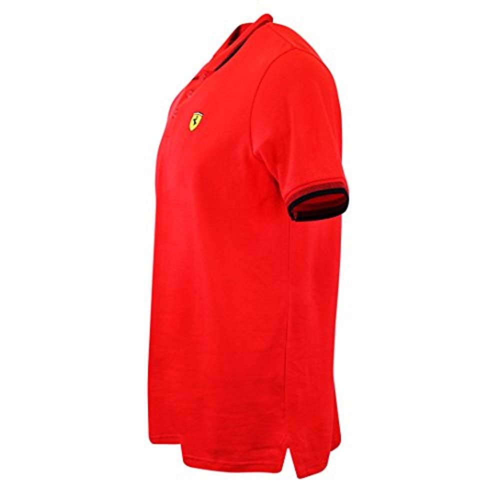 Scuderia Ferrari Mens Formula 1 Authentic Mens Red Contrast Collar Polo