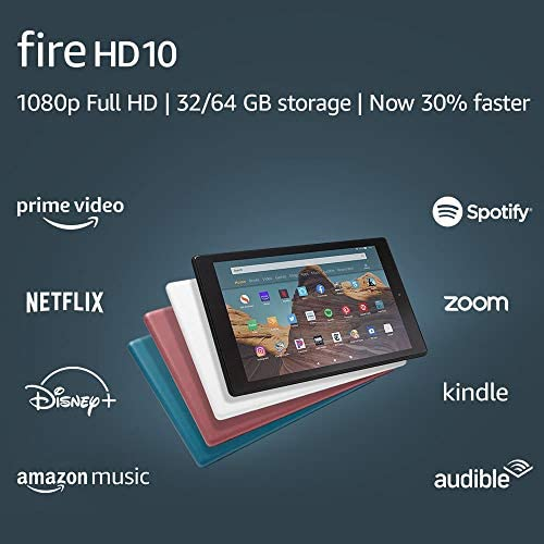 "Fire HD 10 Tablet (10.1"" 1080p complete HD show, 32 GB) – Plum"