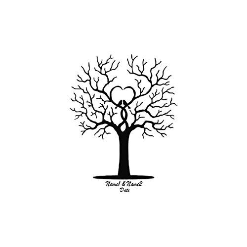 Infgreate DIY Community Signing Board Fingerprint Tree Signature Canvas Painting Guest Book Wedding Party Decor