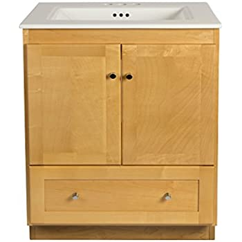 RONBOW Shaker 30 Inch Bathroom Vanity Set In Maple, Wood Cabinet With Two  Wood Doors