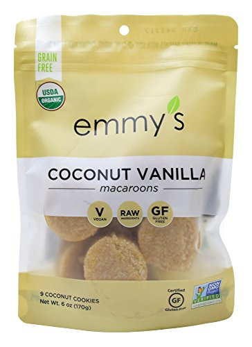 Emmy's Coconut Vanilla Macaroons, 6 Ounce (Pack of - Coconut Macaroons Cookies