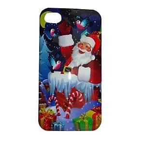 JOE Santa Claus Jr Pattern ABS Back Case for iPhone4/4S